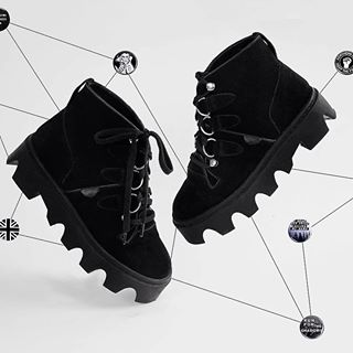 Worth waiting for - the Evolution Boot from our Jungle Collection - luxury black suede, Soundwave inspired sole. Also in black leather. Recommended.  #undergroundshoe #undergroundshoes  #undergroundlondon  #8berwickstreet  #underground_halfmoon #UNDERGROUND_SOUNDWAVE #UNDERGROUND_JUNGLE