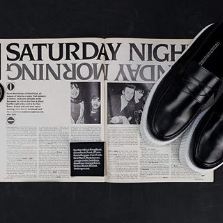 """Still in Manchester and this is the """"Whitworth """". The loafer  carries the name of Whitworth Street, home to many of Manchesters clubs from The Twisted Wheel of Northern Soul fame to the Hacienda on Whitworth Street West.  #undergroundshoe  #undergroundshoes  #undergroundlondon  #8berwickstreet  #underground_halfmoon #UNDERGROUNDCREEPERS #creepers #thecreeper #Brothelcreepers  #Manchester"""