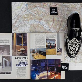 "Staying in Manchester and this is the Apollo shoe that carried the name ""Hacienda "" when it was first launched in 1987. Issue of The Face magazine with an article about Ben Kelly's design of the newly opened club.  #undergroundshoe  #undergroundshoes  #undergroundlondon  #8berwickstreet  #underground_halfmoon #UNDERGROUNDCREEPERS #creepers #thecreeper #Brothelcreepers  #thehacienda"