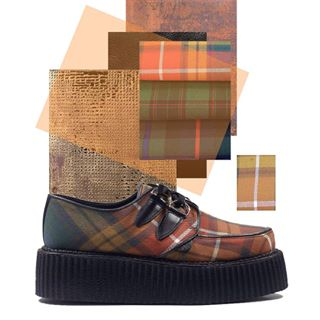 One of our favourites here - this Original Wulfrun Creeper with the Buchanan Tartan. The fabric is woven for us here in the UK. Online now.  #undergroundshoe  #undergroundshoes  #undergroundlondon  #8berwickstreet  #underground_halfmoon #UNDERGROUNDCREEPERS #creepers #thecreeper #Brothelcreepers