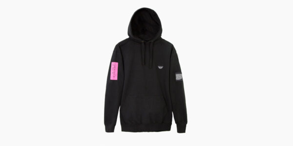 UNDERGROUND ORIGINAL SCREENPRINT PATCH PINK ZIP HOODIE