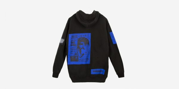UNDERGROUND ORIGINAL SCREENPRINT PATCH BLUE ZIP HOODIE