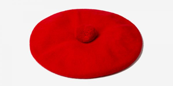 BRITISH WOOL RED BERET UNDERGROUND