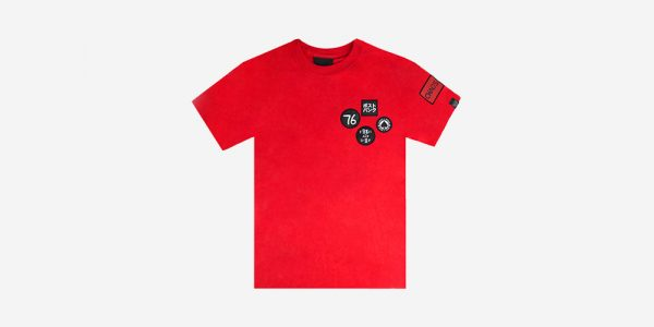 UNDERGROUND BRITISH WOVEN PATCHES RED T-SHIRT