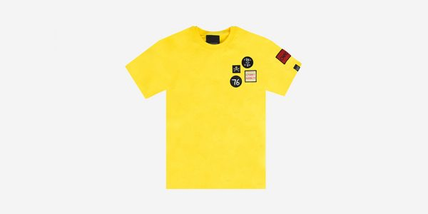 UNDERGROUND YELLOW BRITISH WOVEN PATCHES T-SHIRT